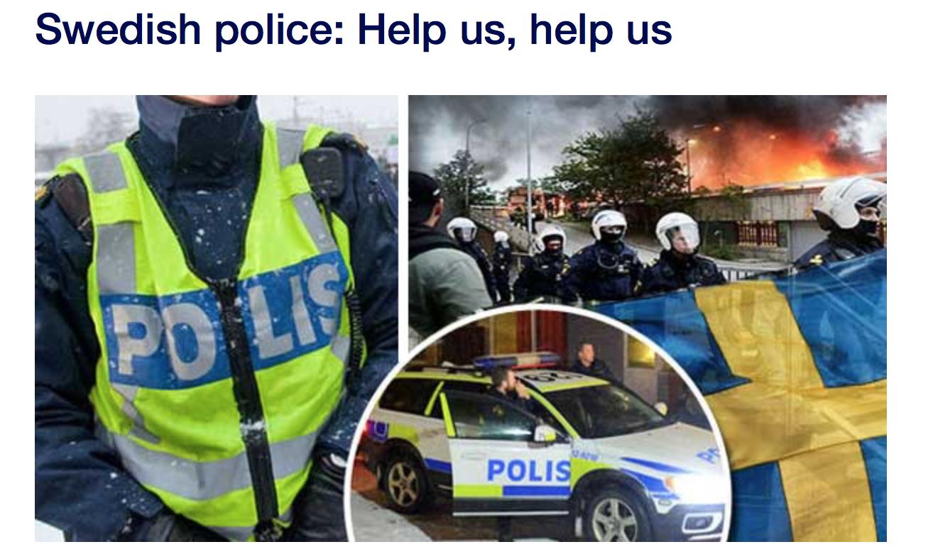 Suède : 61 zones de non droit, la police appelle à l'aide