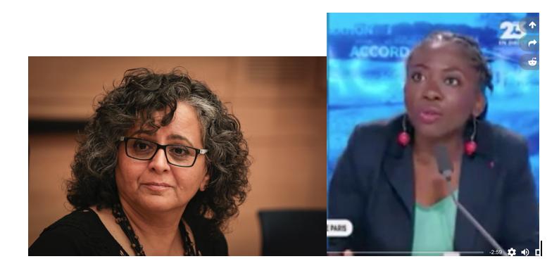 Obono c'est Aïda Toumah-Suleiman, député arabe d'Israël qui trahit son pays et pactise avec l'ennemi