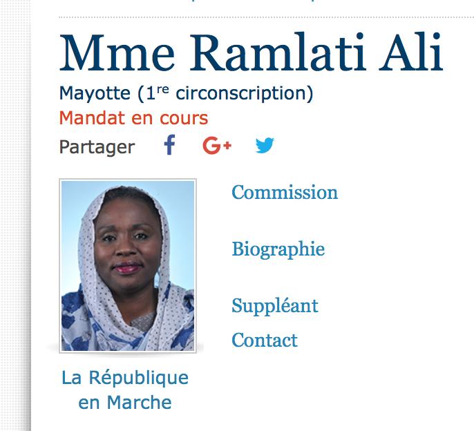 La députée voilée de Mayotte ne porterait qu'un châle mahorais et répond à RR via La Croix
