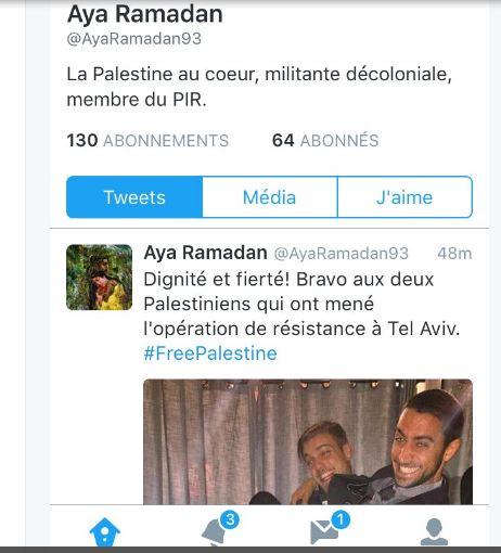 Pourquoi le CCIF n'a-t-il pas poursuivi l'Indigène de la République Aya Ramadan  pour apologie du terrorisme