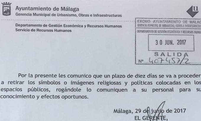 Espagne : suppression des symboles chrétiens à Malaga ; Versailles, pas de feu d'artifice le 13 juillet…