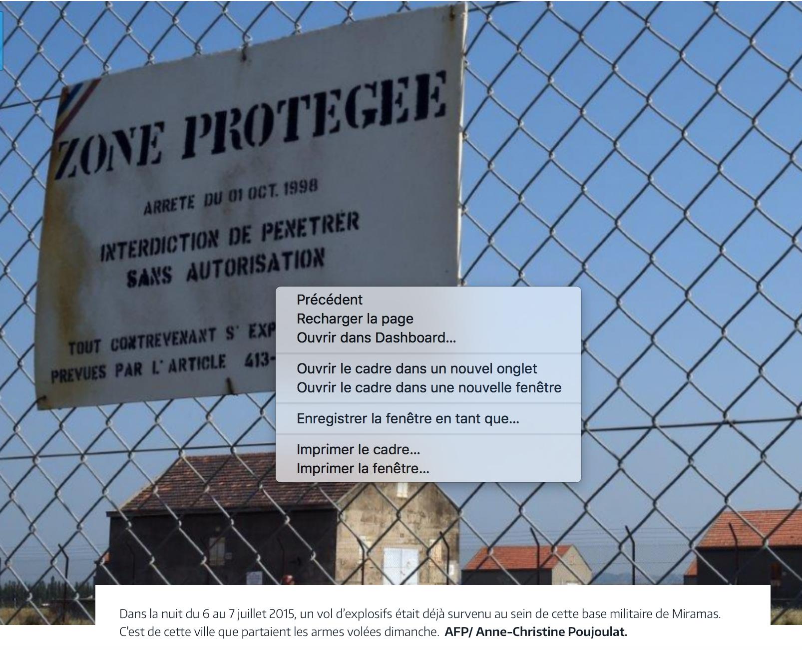 Encore un vol de lance-roquettes et de munitions  dans les sites militaires qui bordent l'Etang de Berre