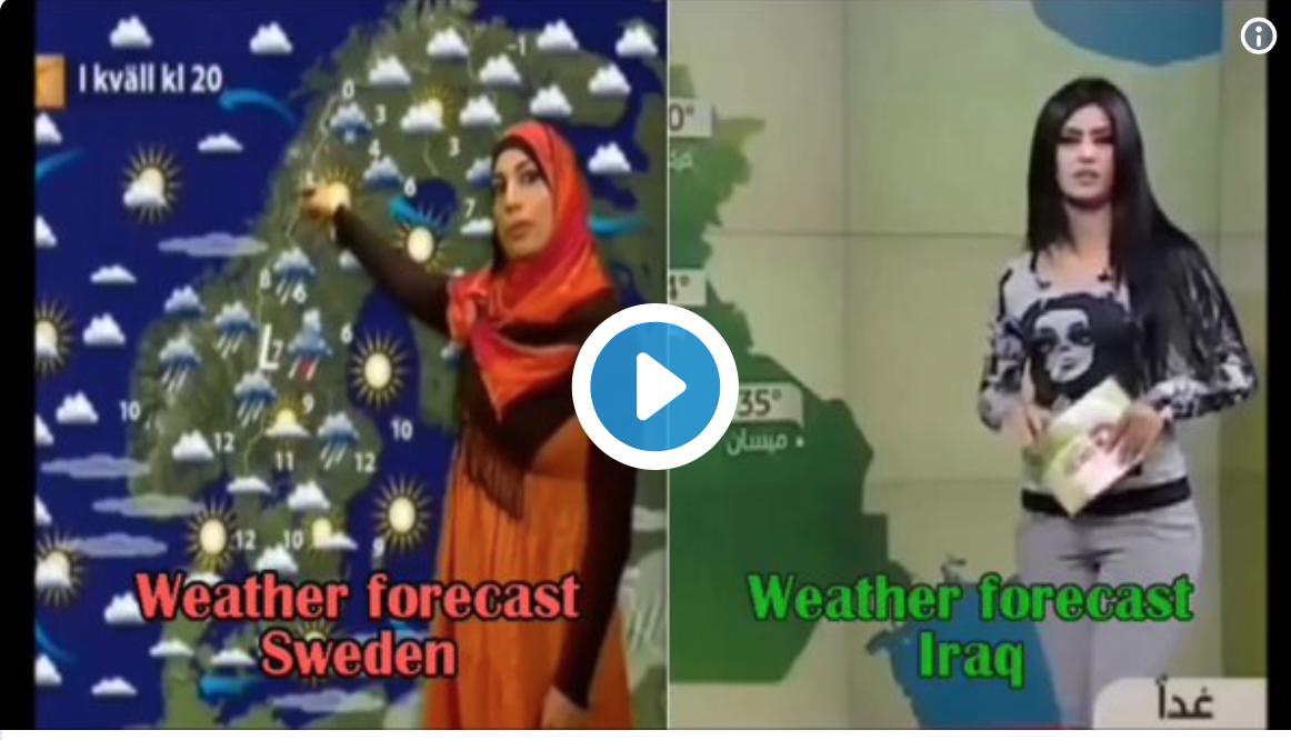 Elle présente la meteo à la TV suédoise en hidjab !
