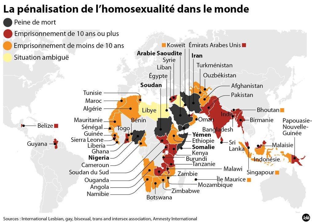 Pour la lesbienne Beth Ditto qui aime la burka : pénalisation de l'homosexualité dans le monde musulman