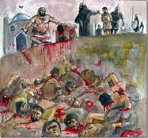 Mahomet et  ses oeuvres criminelles dans  le texte  (musulman)  …