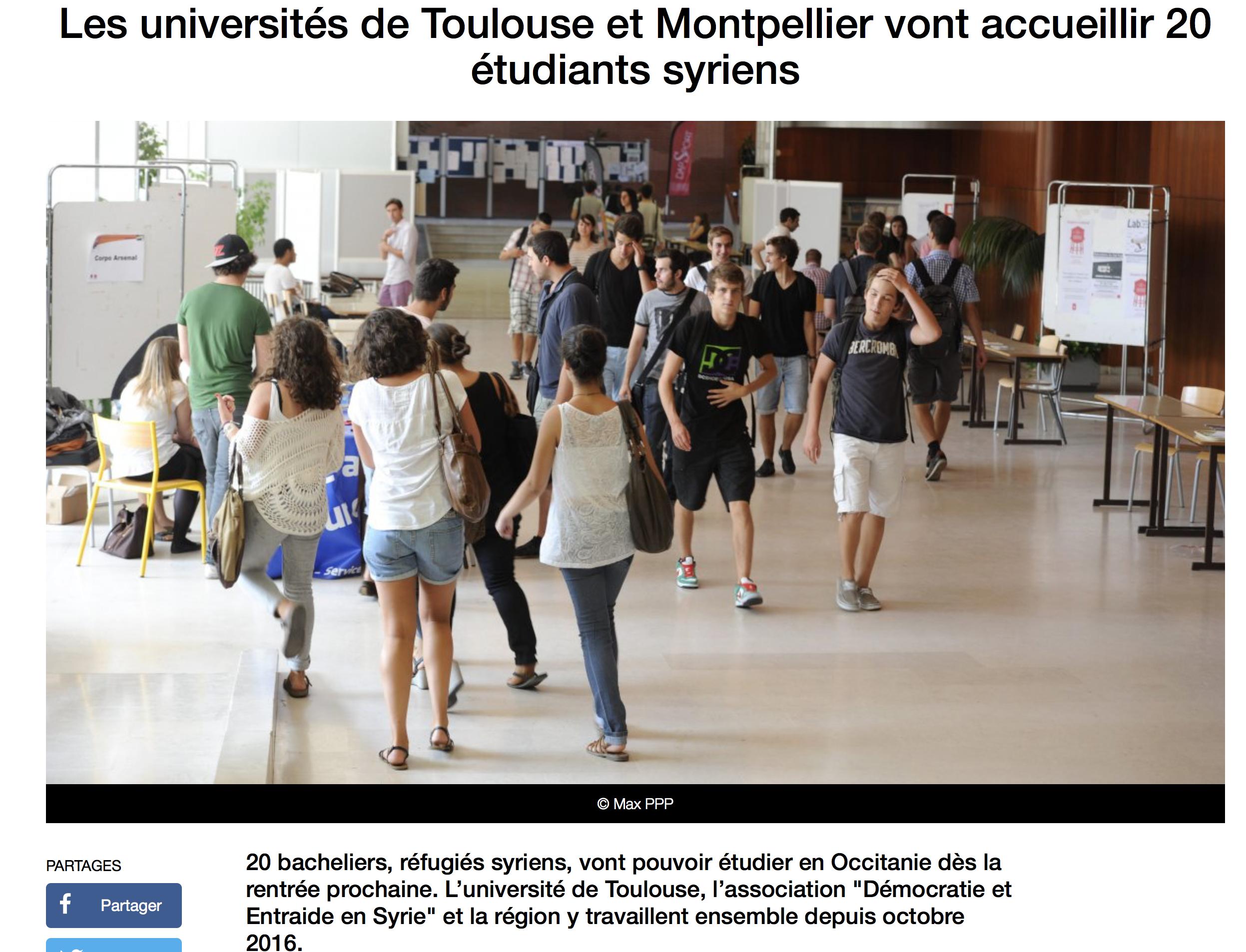 Occitanie : Delga offre la fac aux migrants syriens et en chasse nos enfants