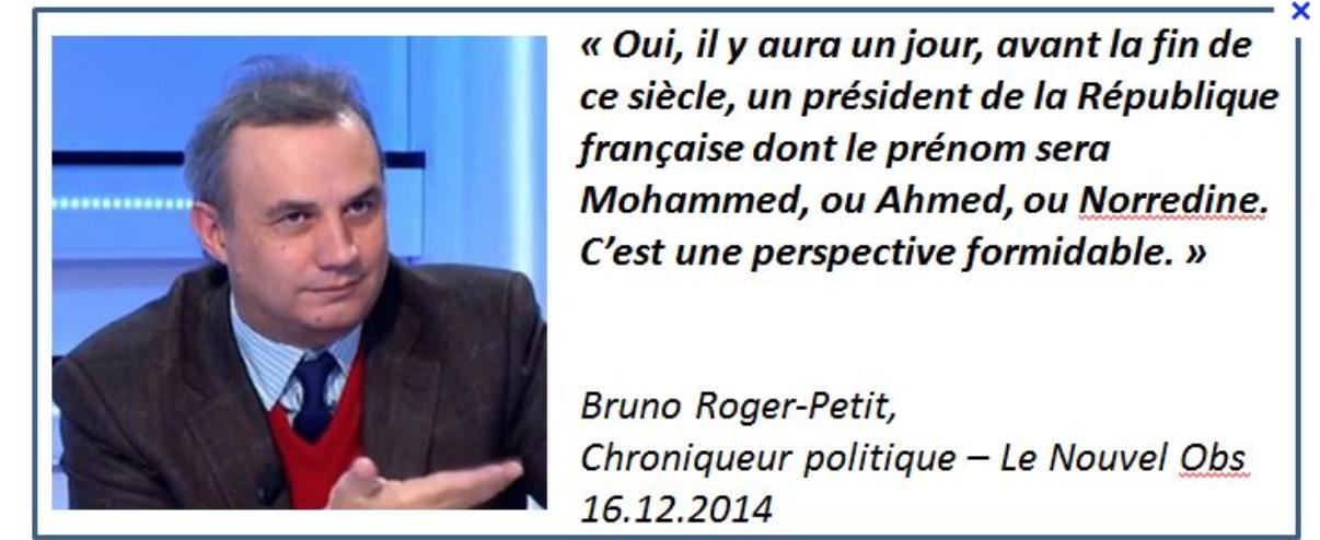 Bruno Roger-Petit, qui rêve d'un président s'appelant Mohamed porte-parole de Macron
