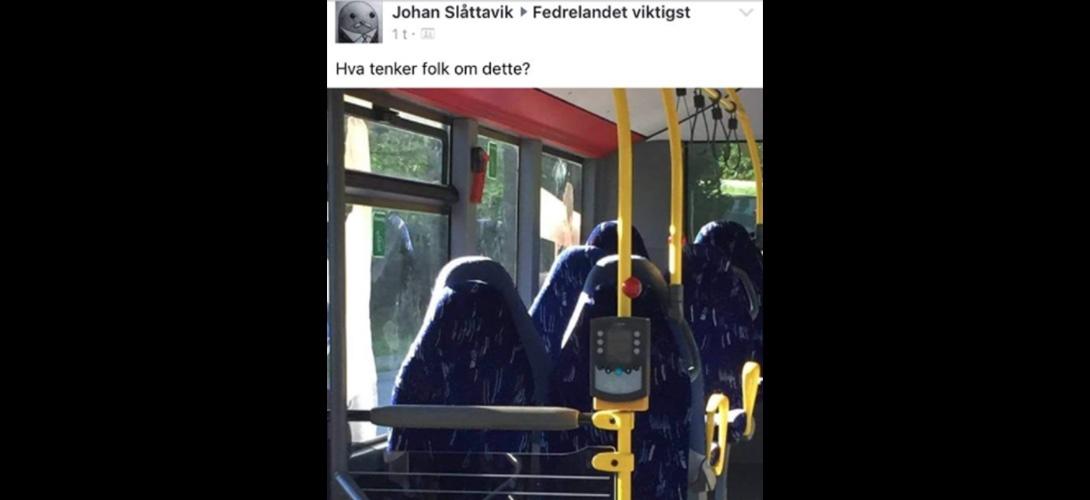 Les femmes en burqa étaient des sièges de bus ? Et alors ?