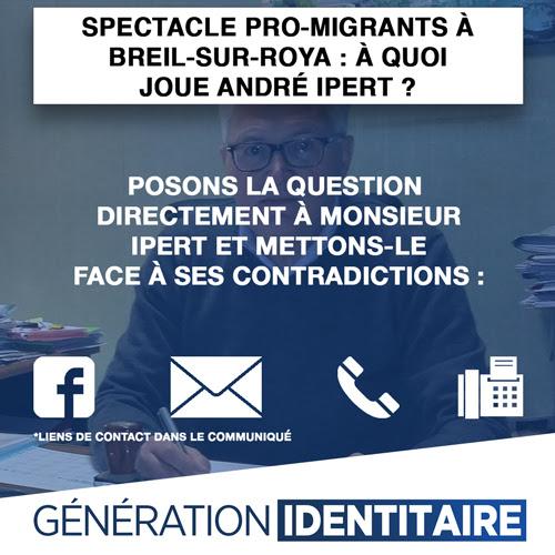 Spectacle pro-migrants à Breil-sur-Roya : à quoi joue André Ipert ?