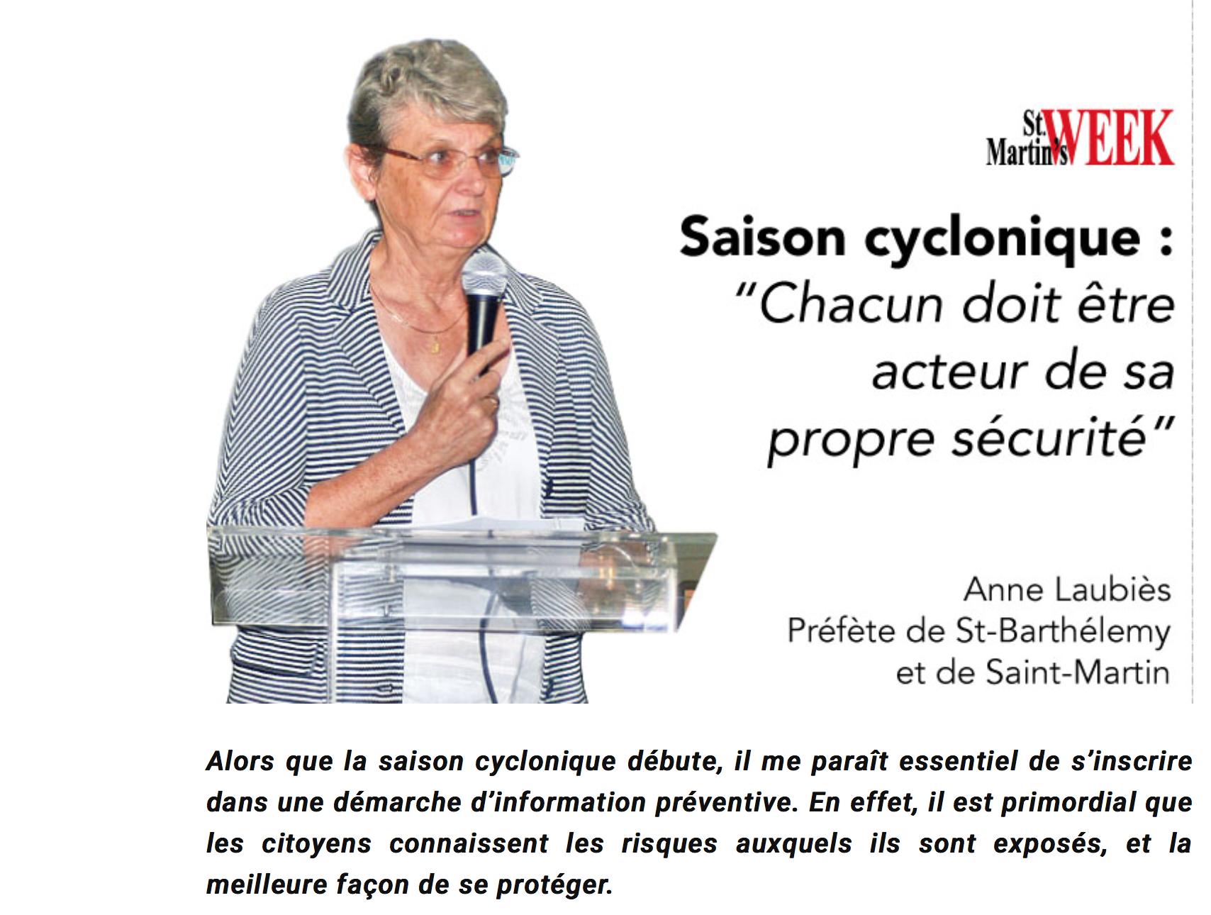 Le Préfet de Guadeloupe salue l'action du sous-préfet Anne Laubiès  !