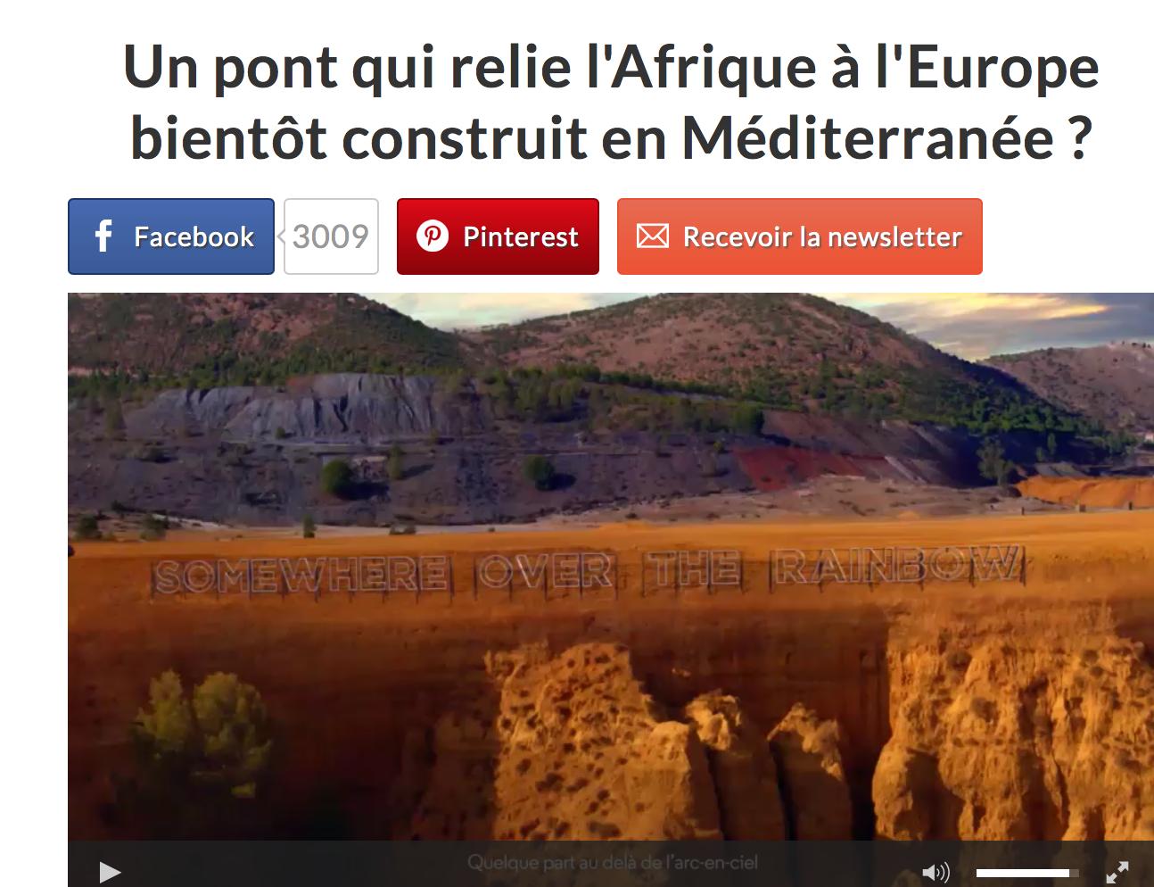 Etes-vous prêts à payer 230 milliards d'euros pour un pont entre l'Afrique et l'Europe ?