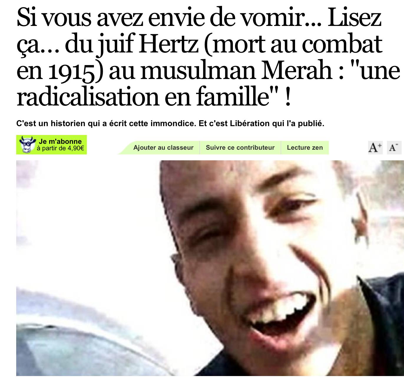 Les poilus comparés à Merah ! Répondons à Libé et Mariot «nous sommes tous des poilus»