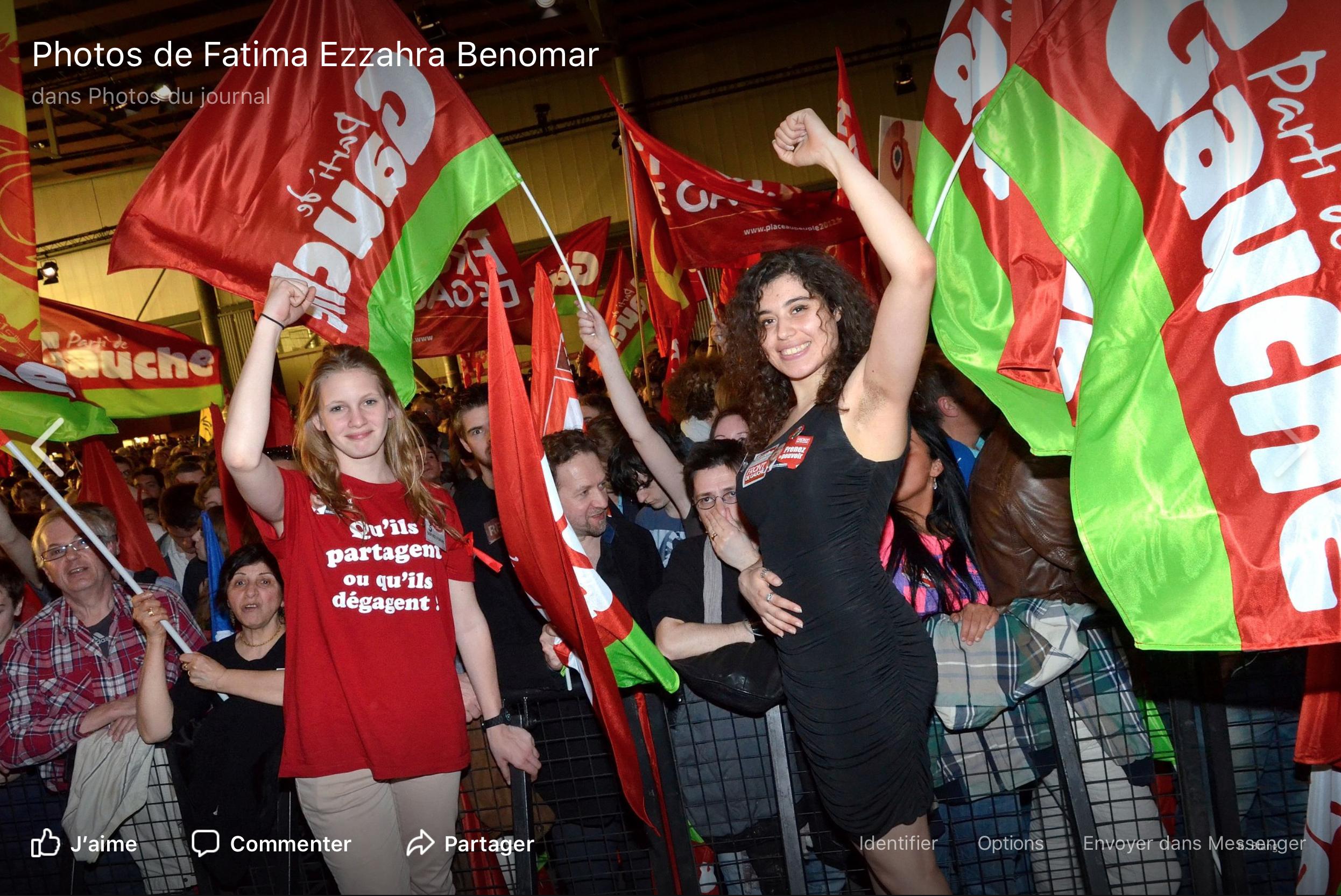 Méluche n'aime pas les poils de Fatima Benomar, vrai visage des Insoumis