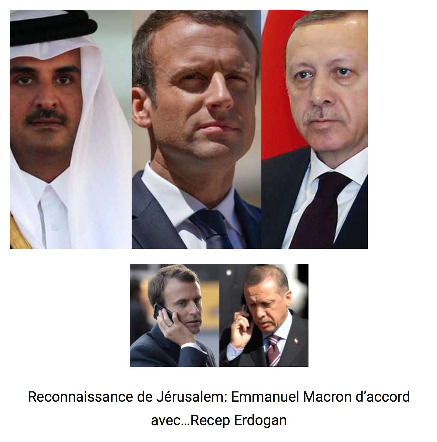 Morts de rire : Macron complote avec l'islamiste Erdogan pour faire changer d'avis Trump !