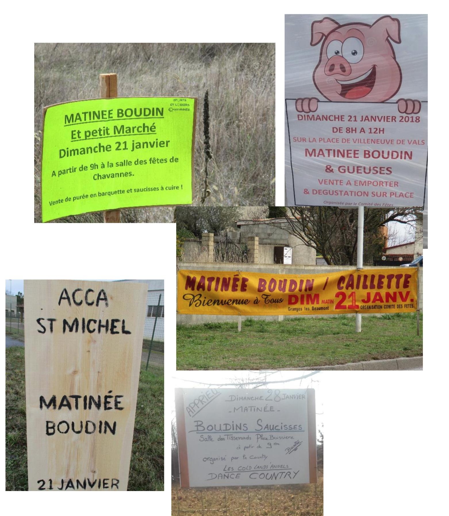 Les Français contre-attaquent à coups de boudins et autres fêtes du cochon