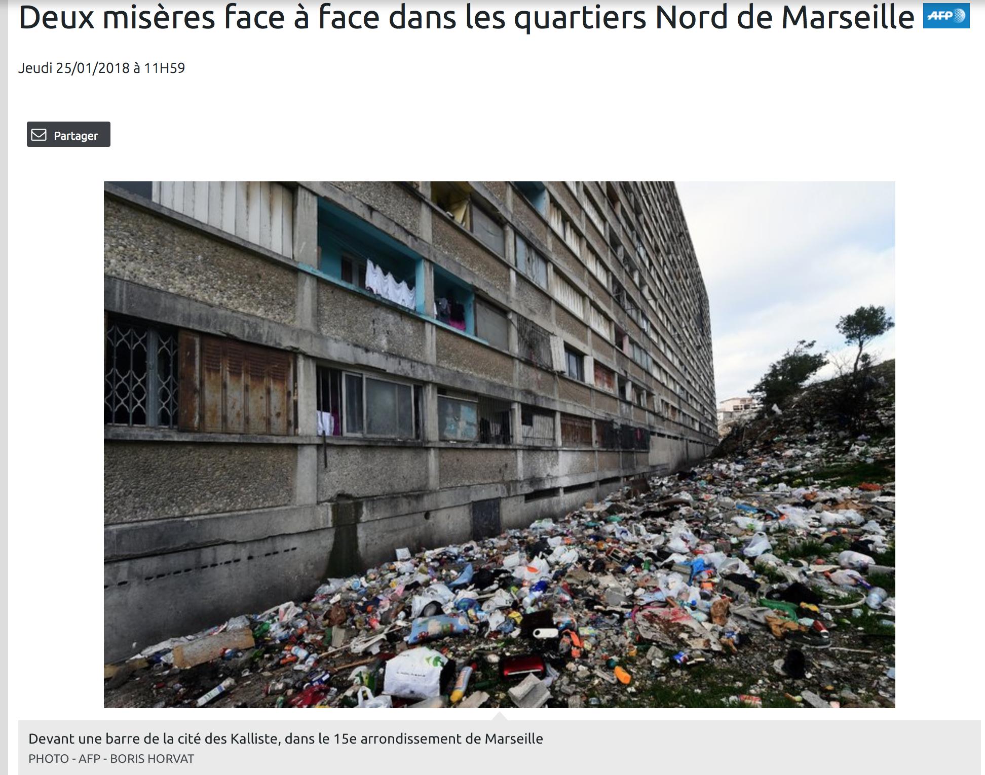 Horreur : regardez cette photo d'un immeuble squatté par des migrants à Marseille