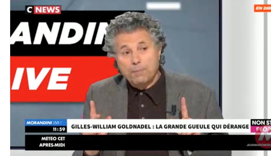 Clash entre Gilles-William Goldnadel et Morandini : le mal français c'est l'immigration massive