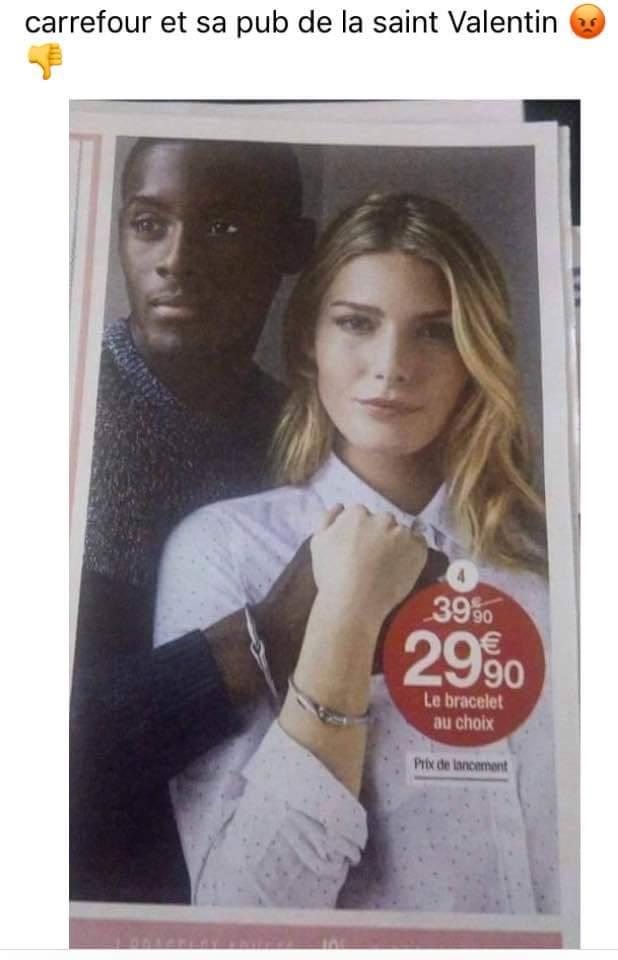Saint-Valentin : Carrefour n'aime décidément pas les Blancs…