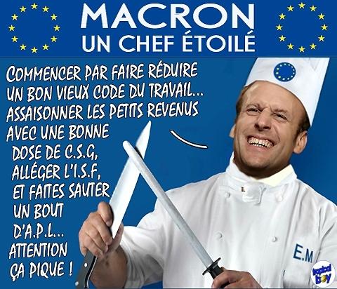 Ah ! Les Zidées de Macron…