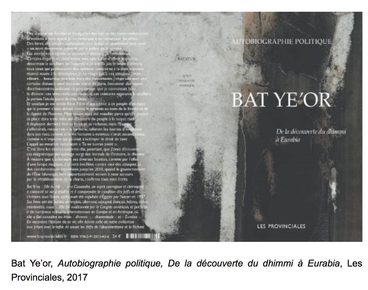 De la découverte du dhimmi à Eurabia, par Bat Ye'Or : à lire absolument !