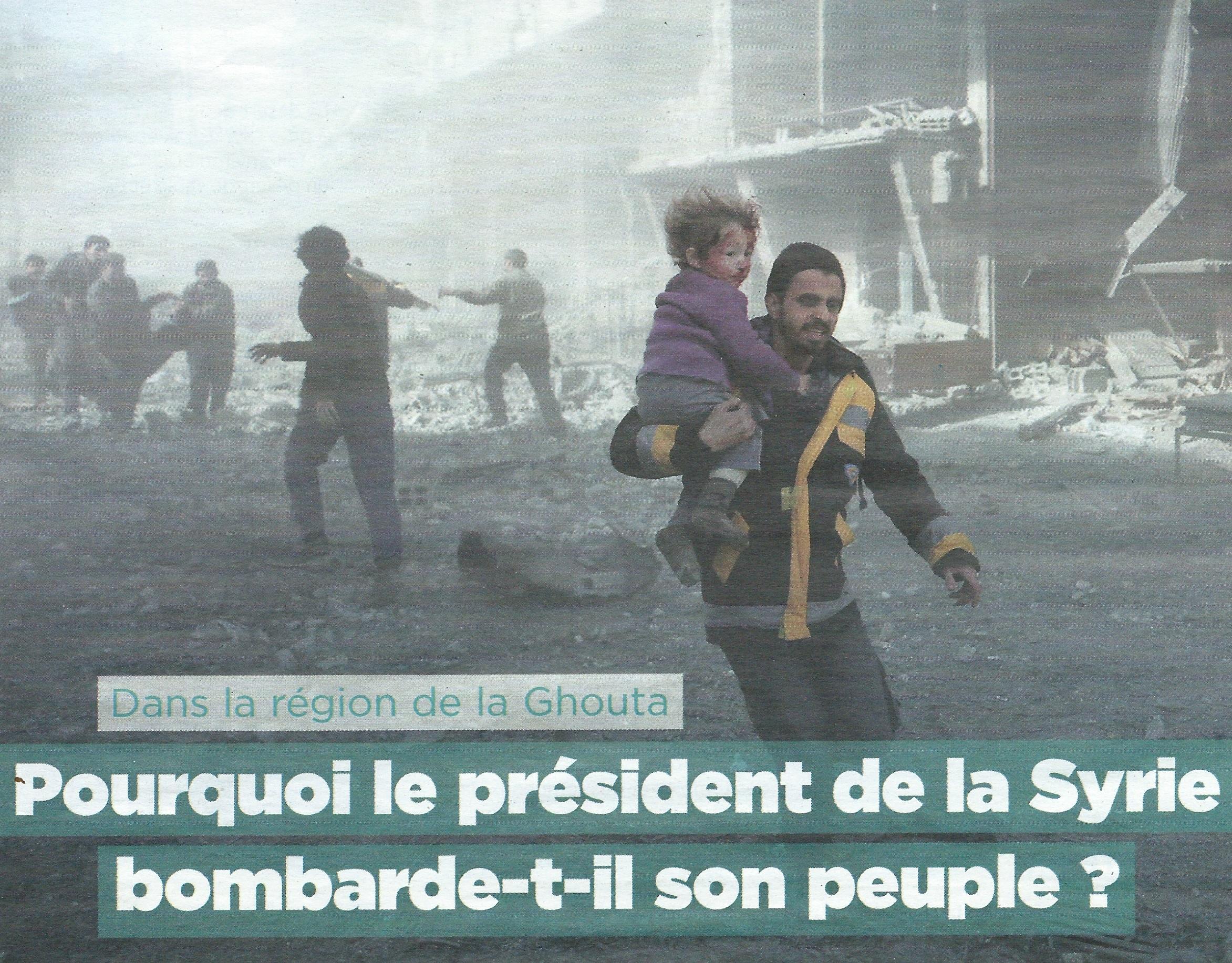 « Dis papa, pourquoi le président Assad tue son peuple ? », les manipulations de «Mon quotidien»