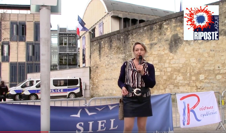 Christine Tasin à Bordeaux : au commencement était la loi Pleven, on n'a rien dit…