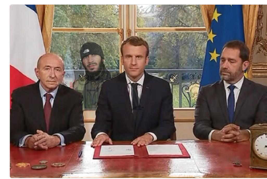Si Bachar achetait autant d'armes que les Saoudis il aurait aussi droit à son selfie avec Macron