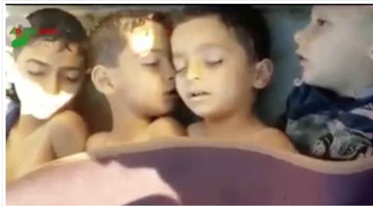 Syrie :  des enfants soit-disant gazés arrosés avec un tuyau ? Grossière manipulation !