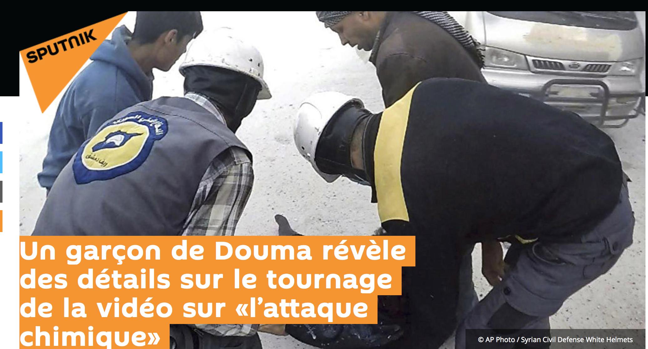 Attaques chimiques à Douma : une énorme manipulation ? Un jeune Syrien témoigne
