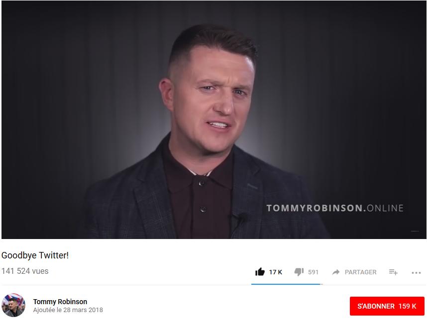 Désespéré, Tommy Robinson demande l'asile politique à Trump