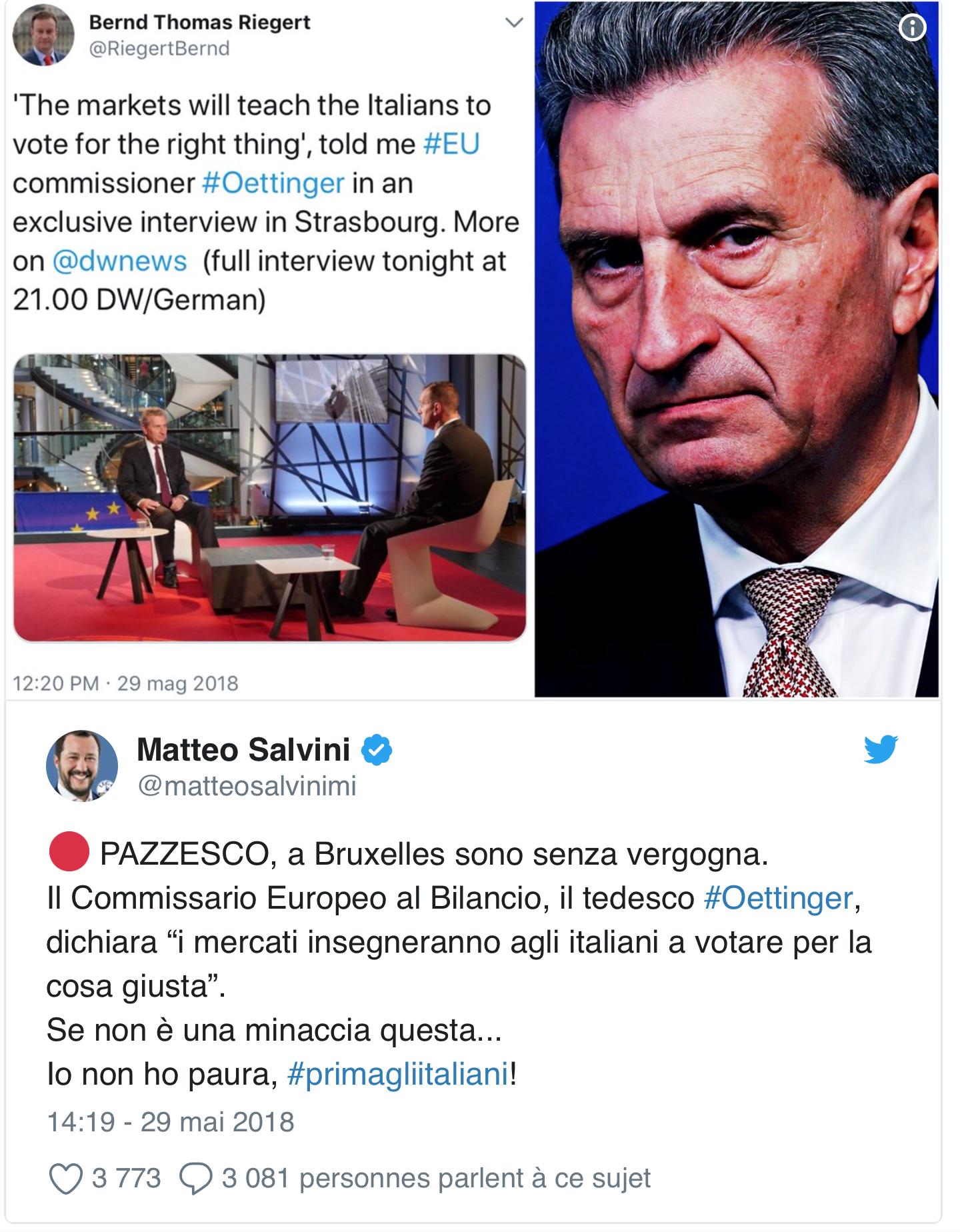 Les Italiens vont-ils laisser Bruxelles et les marchés leur apprendre comment voter ?