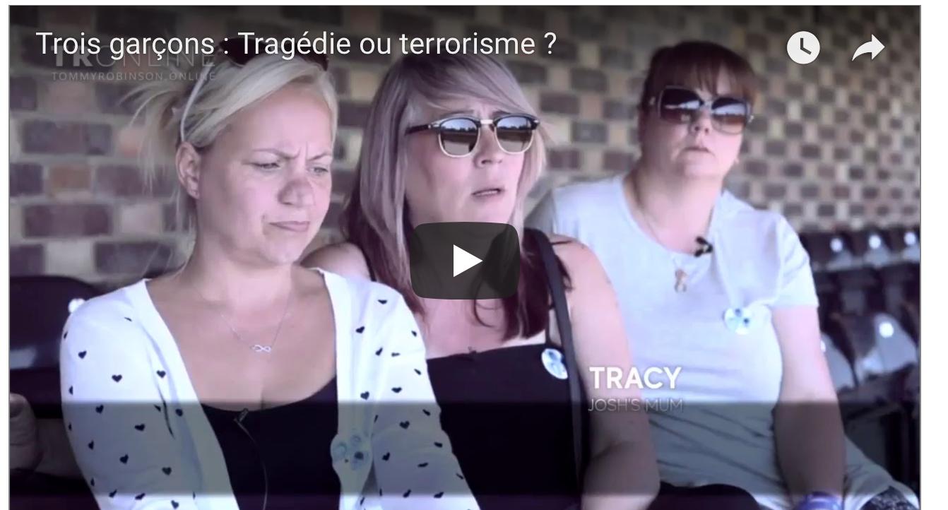 La dernière video tournée par Tommy Robinson : 3 ados fauchés par une voiture… terrorisme ?