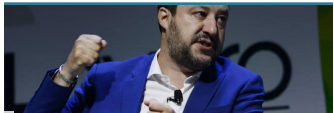 Salvini décidé à bloquer les navires militaires malgré les accords passés