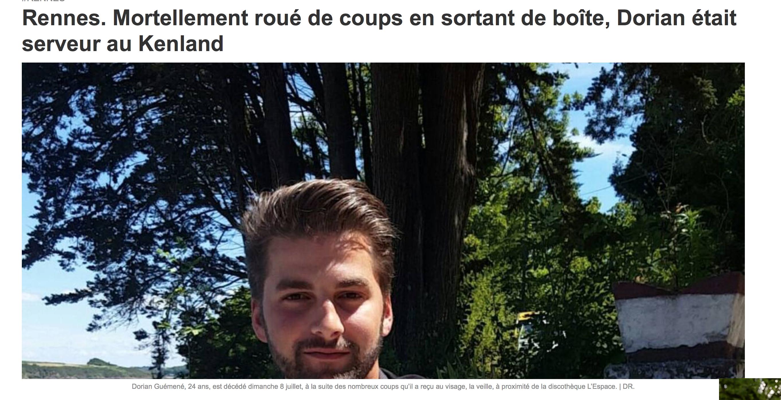 Dorian Guémené, 24 ans, assassiné par 4 racailles : ils nous tuent nos jeunes, un par un…