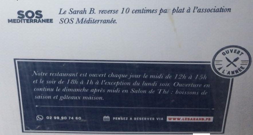 La Roche-Bernard : le restaurant Sarah B. finance bien l'invasion migratoire…
