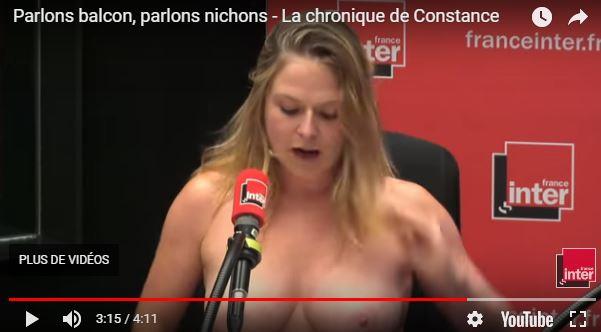 Constance, et si tu exhibais tes gros nichons à Trappes, plutôt qu'à France Inter ?