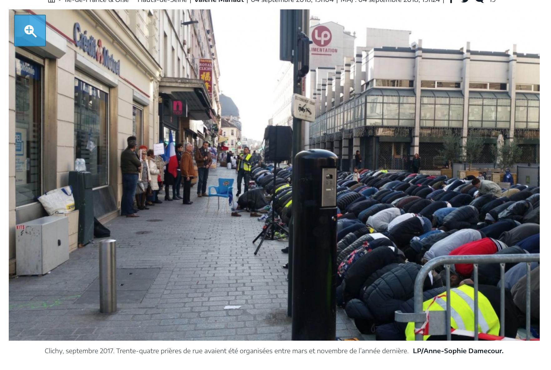 Enfin ! Les musulmans condamnés pour les prières de rue illégales à Clichy