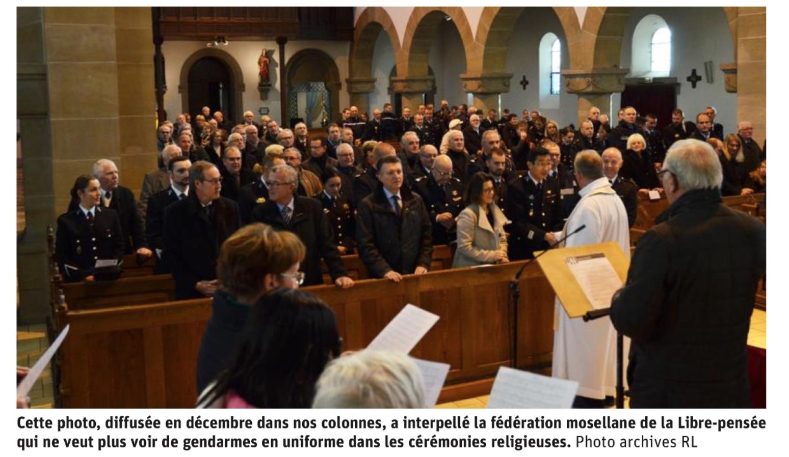 La Libre pensée veut interdire les gendarmes en uniforme pour la  Sainte Geneviève leur patronne