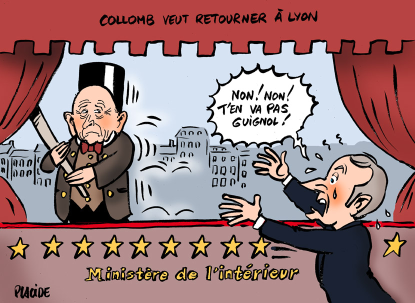 Collomb a préféré sauter en marche de la voiture folle : Macron KO