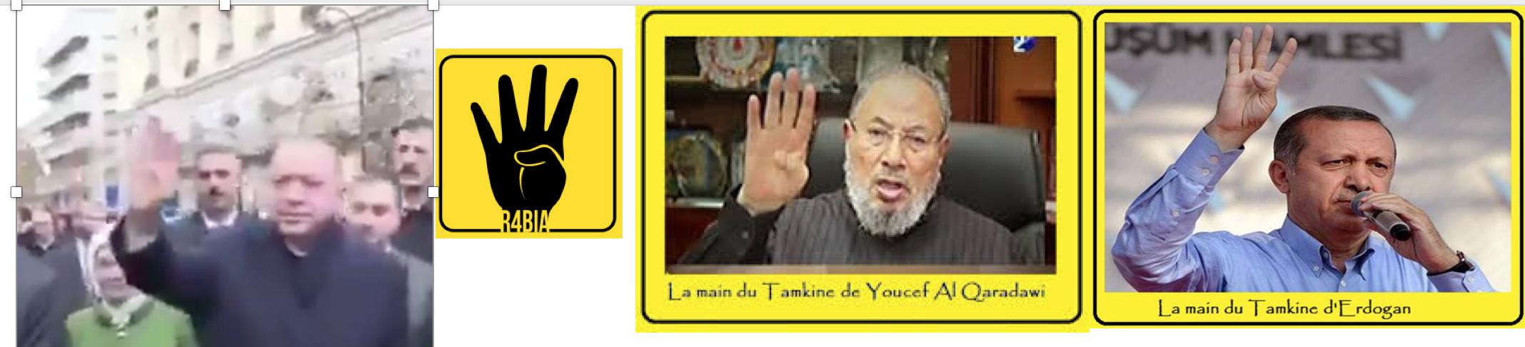 Erdogan fait tranquillement le salut des Frères Musulmans en plein Paris !