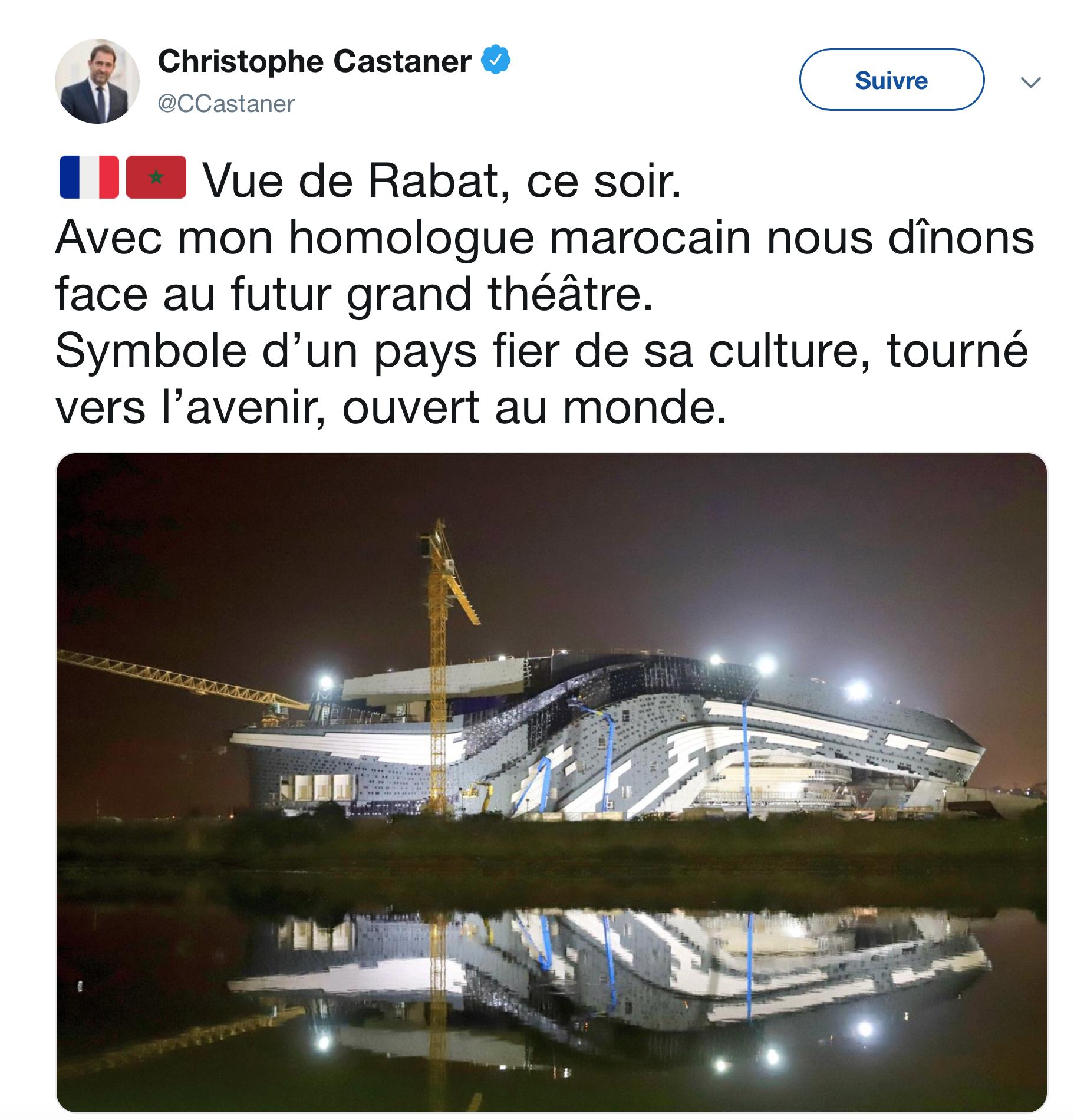 Castaner applaudit le nationalisme du Maroc, «fier de sa culture» et emprisonne nos Gilets Jaunes