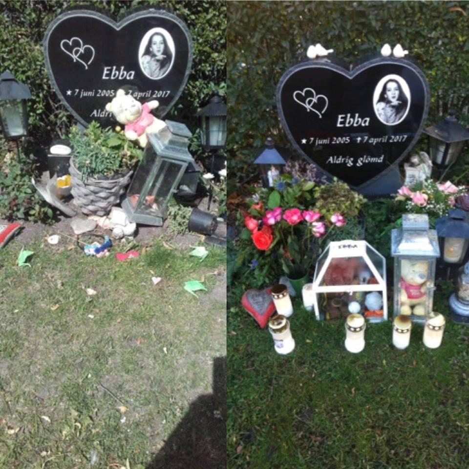 La tombe d'Ebba Akerlund vandalisée pour la 30ème fois par un musulman identifié mais en liberté