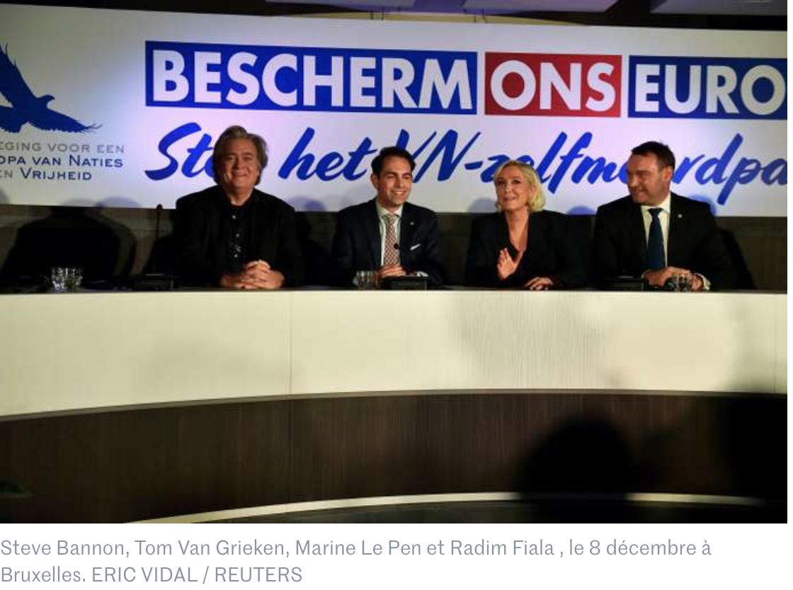 Marrakech : Marine Le Pen et Steve Bannon dénoncent, à Bruxelles, le «pacte avec le diable»