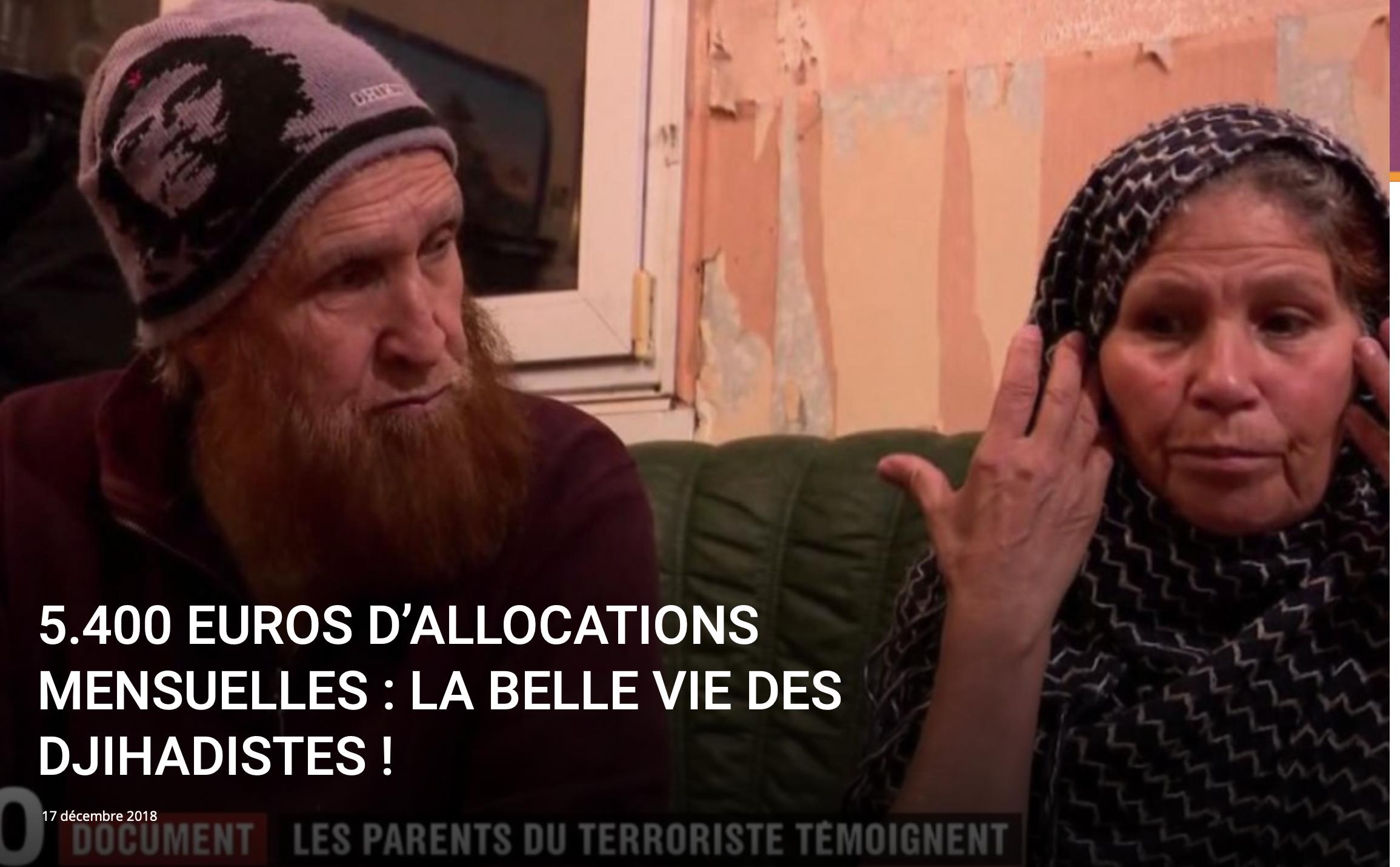 5400 euros d'allocations mensuelles pour le père du tueur de Strasbourg