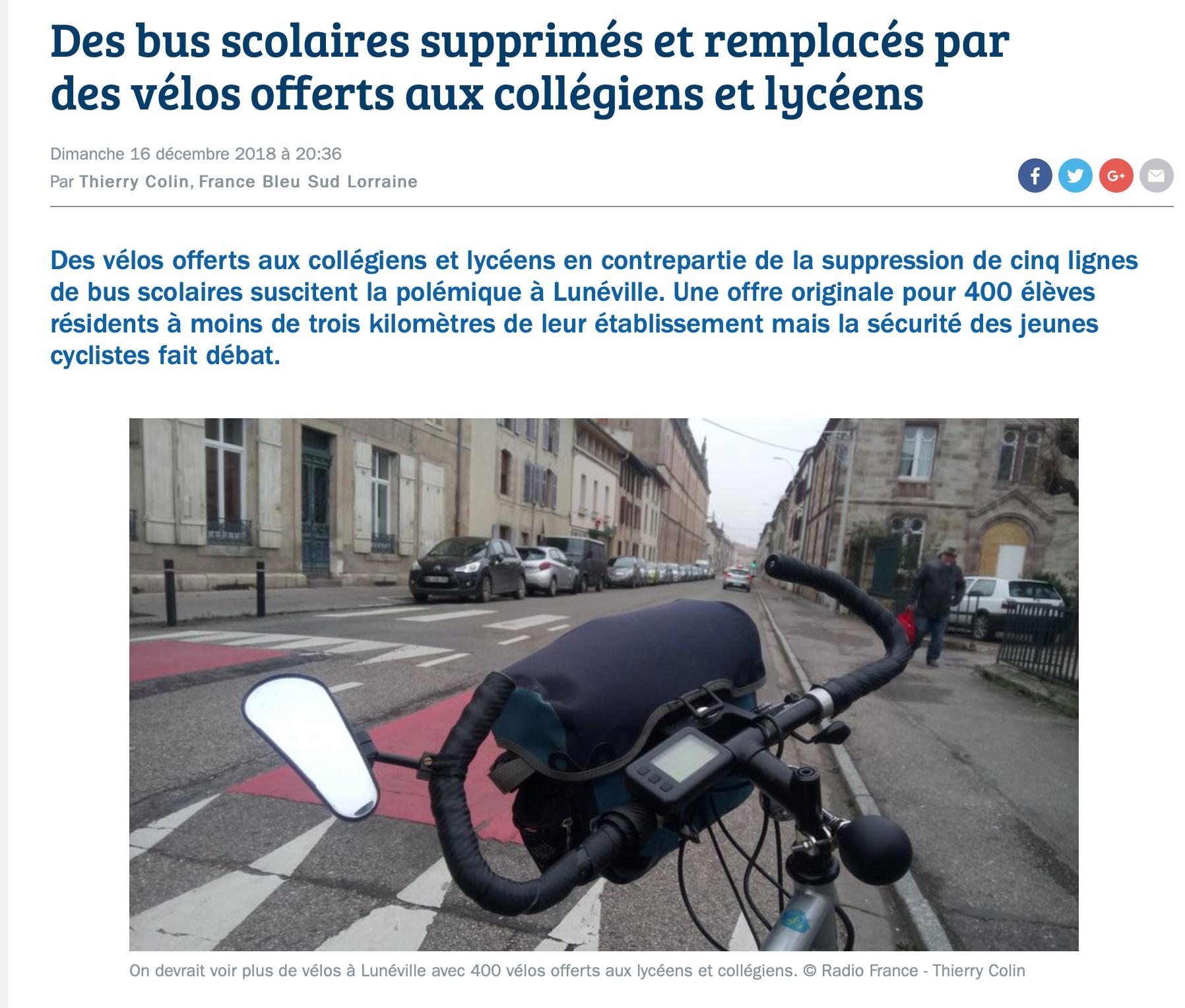 Meurthe-et-Moselle  : ils veulent supprimer les cars de ramassage scolaire,  à  vélo les bouseux !