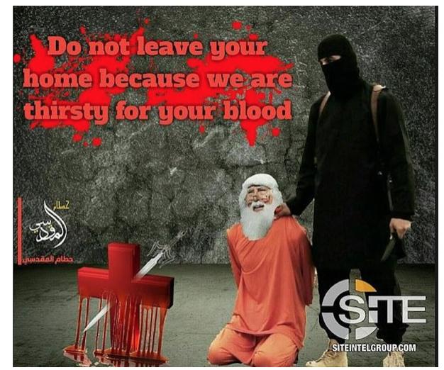 «Ne sortez pas de chez vous, nous sommes assoiffés de votre sang.»..
