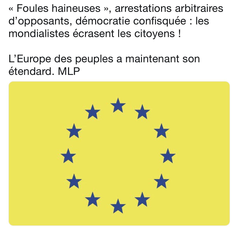 Coup de chapeau à Marine Le Pen pour sa lutte contre l'UE en soutien aux GJ
