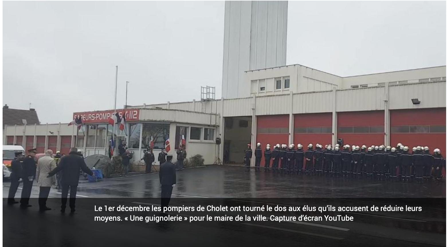 Cholet : les pompiers lui tournent le dos ? Pour se venger le Maire leur refuse l'accès à la piscine !