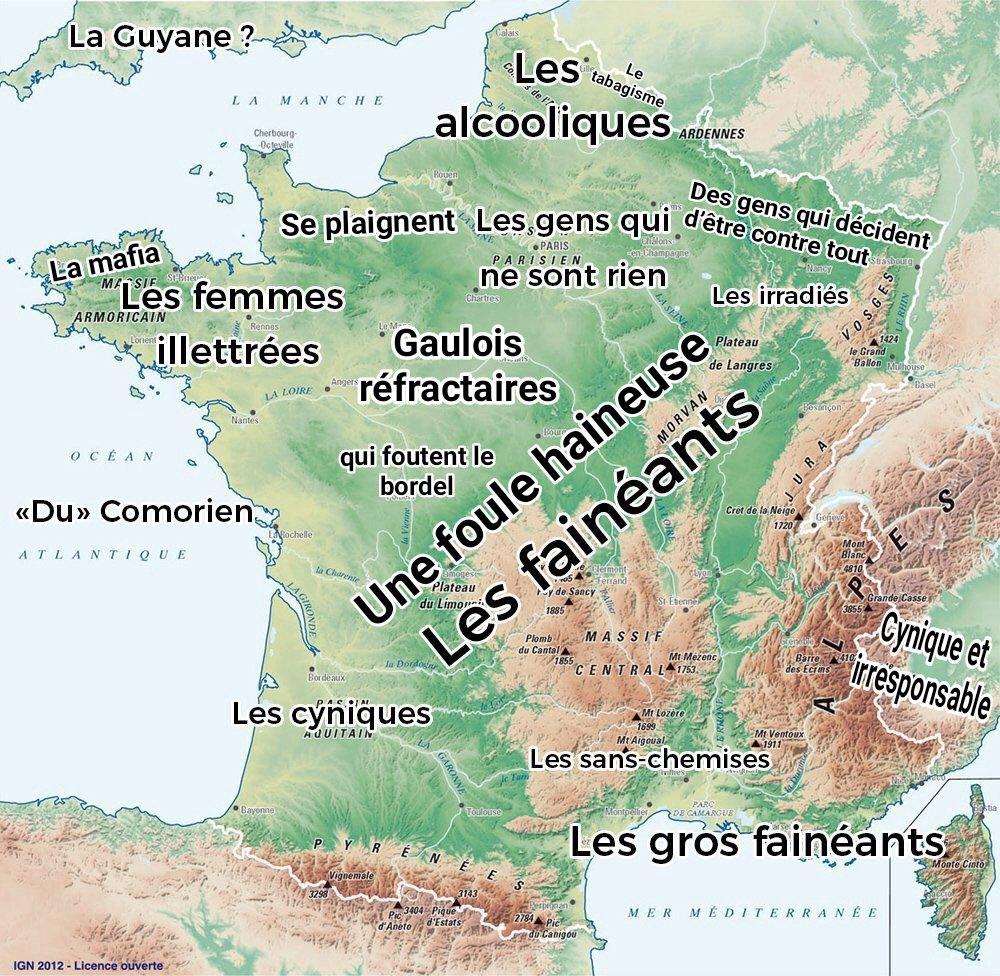 La carte de la France haineuse selon Macron