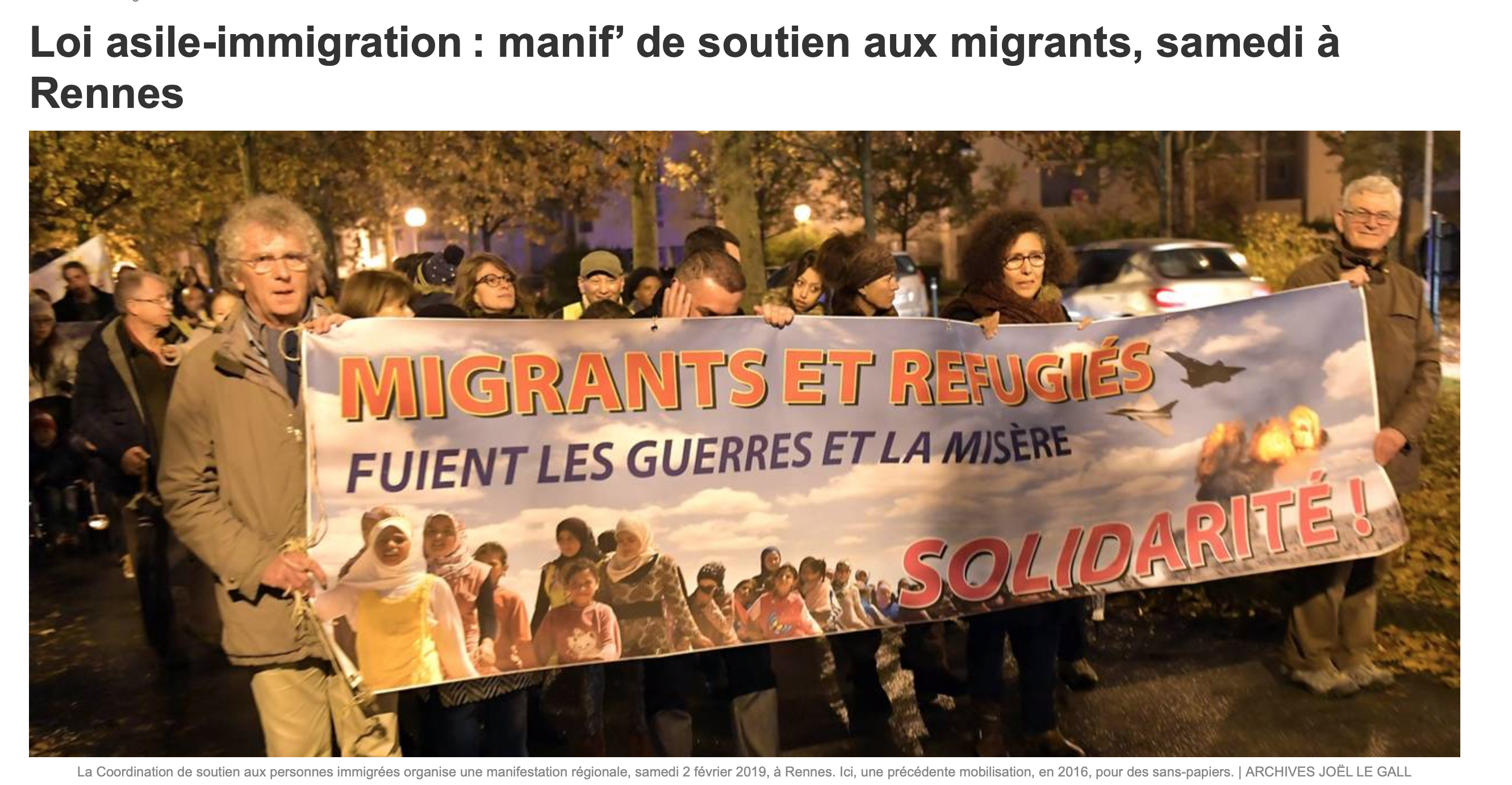 Ah ! la Bretagne et les migrants, ah ! Ouest France et les migrants… une histoire d'amour